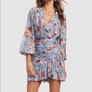 Ever New Valentina Pleated Wrap Mini Dress